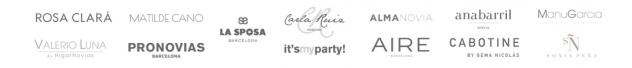 firmas vestidos de novia y fiesta Aranjuez